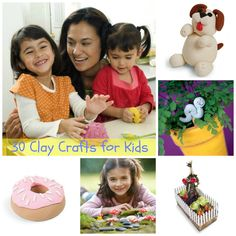30 Clay Crafts for Kids - so much fun!