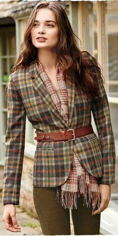 56 Tweedy Trend To Rock This Winter - Fashion New Trends : 56 Tweedy Trend To Rock This Winter outfit fashion casualoutfit fashiontrends Mode Outfits, Fall Outfits, Casual Outfits, Fashion Outfits, Preppy Fashion, Country Outfits, Blue Fashion, Fashion Mode, Modest Fashion