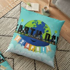 If a full redecorating project isn't in your budget, consider this inexpensive idea to give your room new life.Liven up your living room or bedroom with throw and floor pillows! Floor Pillows, Throw Pillows, Pillow Inspiration, Earth Day, Pillow Design, Wall Tapestry, Duvet Covers, Living Room Decor, Budget