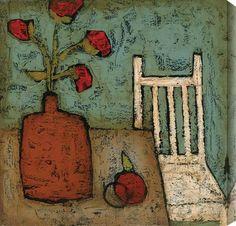DeRosier - Vase with Fruit I #vase #flower #art