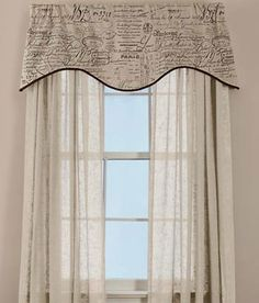 Parisian Note Lined Scalloped Valance Marine Blue $59.50 Country Curtains