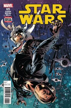 Star Wars 25: The Last Flight of the Harbinger, Part V is the twenty-fifth issue of the Marvel comic book series Star Wars. Written by Jason Aaron and Chris Eliopoulos, it was published on November 23, 2016. The issue also includes the mini-comic Droid Dilemma by Chris Eliopoulos. Publisher's summary Rebel crew vs. SCAR Troopers for the fate of the Harbinger!, PLUS: An all-new Artoo-Deetoo adventure!