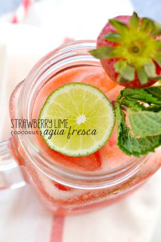 When it's sweltering out, try kicking back with one of these: Strawberry-Lime (Coconut) Agua Fresca. Sweeten to taste with stevia or xylitol.