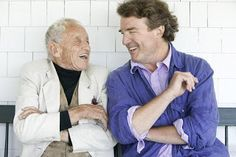 American painter Andrew Wyeth and his son, the painter Jamie Wyeth.