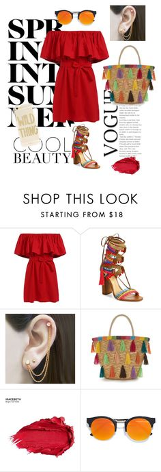 Summer Wild by isa-espinoza-guerrero on Polyvore featuring moda, Schutz, Embers Gemstone Jewellery, Sonix, LULUS, Urban Decay and shirtdress