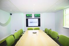 Modern boardroom design  www.jbhrefurbishments.co.uk