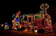Photographing Disney Night Parades - Disney Photography Blog  (Shown:  Main Street Electrical Parade Train)