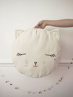 Pussy cat pouf by Boramiri by ruth