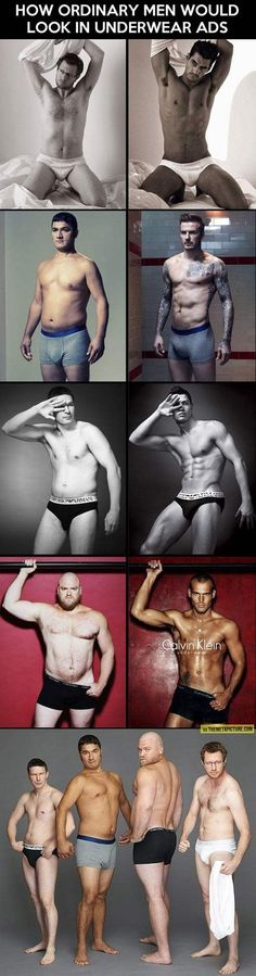 How ordinary men would look in underwear ads - Funny Dirty Adult Jokes, Pictures, Memes, Cartoons, Ecards, Fails