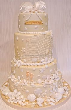 Beach wedding By sweetcheeksbakehouse on CakeCentral.com