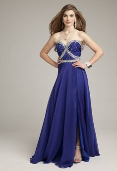 Prom Dresses 2013 - Chiffon Chunky Beaded Prom Dress with Open Back from Camille La Vie and Group USA