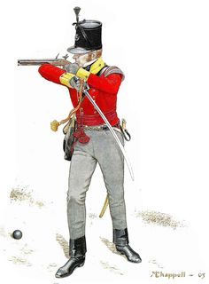 British Light Infantry officer 1800 Wellington Army