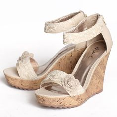 lacey view wedges $42.99 (ruche)