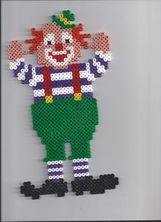 Clown hama beads by yaya