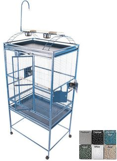 """A&E Cage 8003223 White 32""""x23"""" Play Top Cage with 5/8"""" Bar Spacing"""
