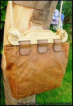 Viking Hedeby Bag by HalfGoatLeatherwork on Etsy