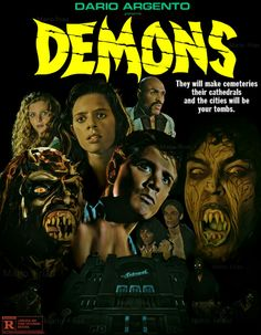 Demons (1985) by Mario Frias / (Directed by Lamberto Bava) (Produced by Dario Argento)