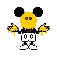 松本セイジ Line Illustration, Character Illustration, Graphic Design Illustration, Graffiti Doodles, Mickey Mouse Cartoon, Twisted Disney, Mascot Design, China Art, Fanarts Anime