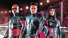 In a corporate-controlled future, an ultra-violent sport known as Rollerball represents the world, and one of its powerful athletes is out to defy those who want him out of the game. Movies To Watch, Athletes, Science Fiction, Superhero, Sport, Game, Future, Sci Fi, Deporte