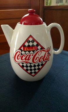 "1995 Coca Cola Teapot Coffee Pot by Enesco ""Nice"""
