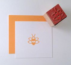 Mini Bee Rubber Stamp