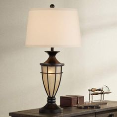 Mission Cage Night Light Urn Table Lamp - #T7713 | Lamps Plus