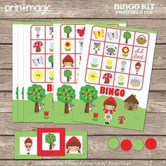 Red Riding Hood Bingo Printable Party Game - Printable PDF on Etsy