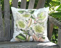 Hellebore Heaven Pillow  Famous France Pillow  Pastel by artanlei, $35.00