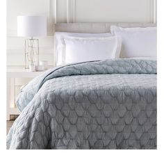 Monet Sky Light Blue Bedding Quilt