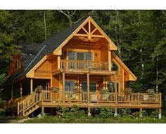 Chalet house plans bring Swiss-inspired details to mountain house plans. A-Frame house plans may include chalet details like decorative trim and porches. Cabin House Plans, Cottage Floor Plans, Log Cabin Homes, Cottage House Plans, Country House Plans, Small House Plans, Cottage Homes, House Floor Plans, Cottage Style