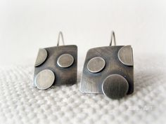 Polka dots sterling earrings by ZiZou ArT, via Flickr ~ Lovely! Not too simple, not too busy.