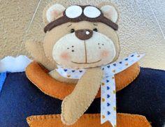 Joaninha arteira: Móbile ursinho aviador