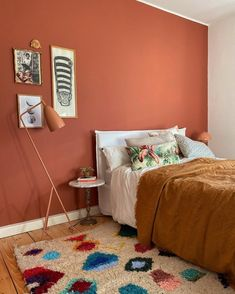 Bedroom Orange, Terracota, Farrow Ball, Interior Walls, Interior And Exterior, Bedroom Styles, New Room, House Colors, Paint Colors For Home