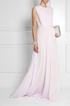 Pale-lilac silk-georgette Concealed zip fastening along back 100% silk Dry clean