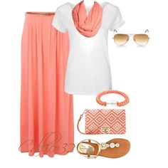 """""""Maxi Skirt #9"""" by callico32 on Polyvore  Ready for Spring!"""