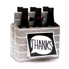 Beer Greetings Card Box, Thanks, 4 Count #BeerGreetings