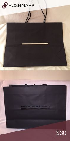 DIESEL Shopping bag Diesel shopping bag- large.60x43 Diesel Black Gold Bags Cosmetic Bags & Cases