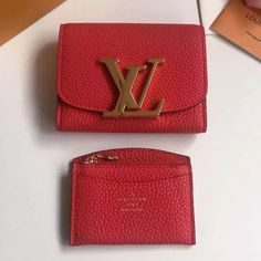 Louis Vuitton Vivienne LV Compact Wallet Red 2016 Louis Vuitton Red Purse, Vuitton Bag, Red 2016, Designer Bags For Less, Red Bags, Luxury Handbags, Vivienne, Bag Sale, Continental Wallet