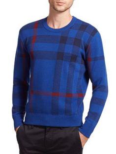 BURBERRY Redbury Check Sweater. #burberry #cloth #sweater