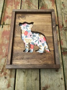 This gorgeous wood sign will look perfect in your little ones nursery. Display alone or as part of a gallery wall. LISTING IS FOR: -One 12x16 inch wood sign featuring a Fox cut out with floral background. - Ready to hang with sawtooth hook on back -Each sign is made using 3/4 inch Pine