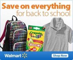 Walmart Back to School Deals 2013