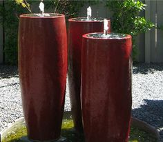 Simple and effective: three water vases of different size
