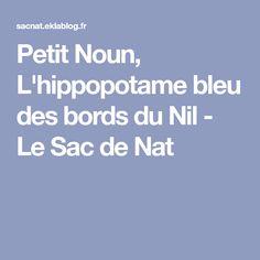 Petit Noun, L'hippopotame bleu des bords du Nil - Le Sac de Nat