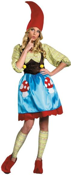 check out ms gnome costume plus size funny halloween costumes from costume super centre - Size 18 Halloween Costumes