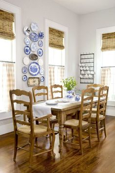 Dining Room:  Rugs in every room can quickly bust a budget. Holly's zero-dollar solution: Eliminate one in the dining room.