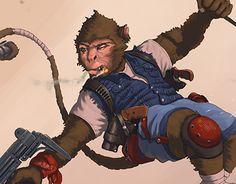 "Check out new work on my @Behance portfolio: ""Monkey"" http://be.net/gallery/52547161/Monkey"