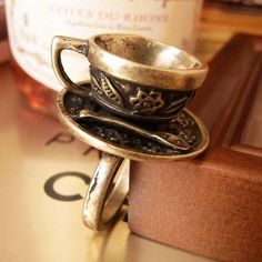 Tea Cup Ring from Goldfish on Storenvy