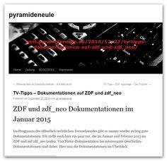 TV-Tipp auf www.pyramideneule.de  http://welt.pyramideneule.de/2014/12/27/tv-tipps-dokumentationen-auf-zdf-und-zdf_neo/