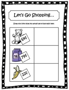 Money - Canadian Coins Pack #Education #math $ Canadian Coins, Fifth Grade, Grade 1, Second Grade, Coin Sorting, Money Worksheets, Counting Money, Math Questions