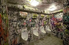 7. Not sure if thisgraffitiin Zurich has been purposely scrawled on to look cool, or whether it is actually cool. Either way, makes for a more exciting trip to the urinals for the boys. Thankspaalia.